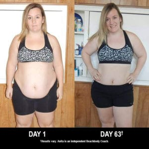 Anita Doucet lost 24 lbs. in 63 days with 21 Day Fix & Shakeology.