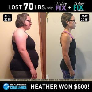Heather Boyce lost 70 lbs. with 21 Day Fix and 21 Day Fix EXTREME.