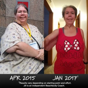 Jill Werkman lost 142 lbs. with 21 Day Fix and Shakeology.