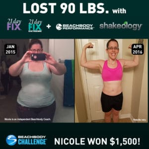 Nicole Hoffman, age 26, lost 90 lbs. with 21 Day Fix, 21 Day Fix EXTREME, and Shakeology.