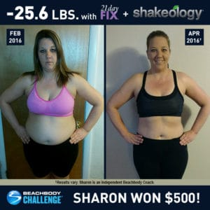 Sharon Kline lost 25.6 lbs. in 2.5 months with 21 Day Fix and Shakeology.