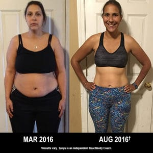 Tanya Dion lost 51 lbs. with 21 Day Fix, 21 Day Fix EXTREME, and Shakeology.