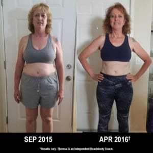 Theresa Hathaway lost 32 lbs. with 21 Day Fix & Shakeology.