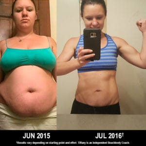 Tiffany Briggs, age 24, lost 80 lbs. with 21 Day Fix and Shakeology.